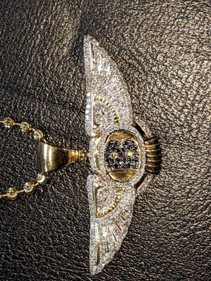 10k gold chain and medallion for Sale in Dallas, TX