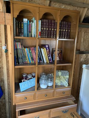 Vintage Solid Wood Hutch And Cabinet for Sale in Everett, WA