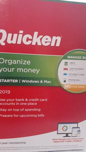 Quicken organize your money 2019 for Sale in Stickney, IL