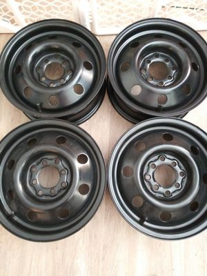 Matte Black Universal Steel Rims - Set of 4 for Sale in St. Louis, MO