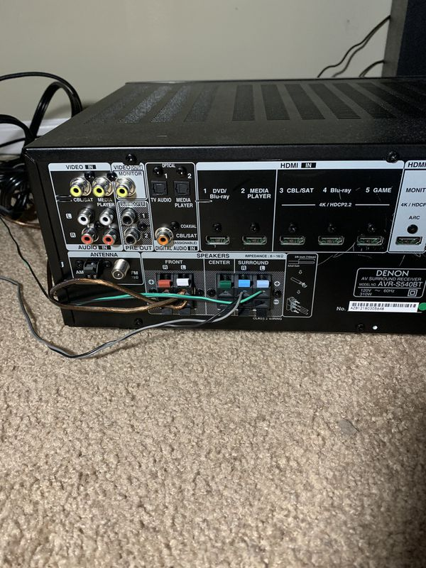 Receiver with tower speakers
