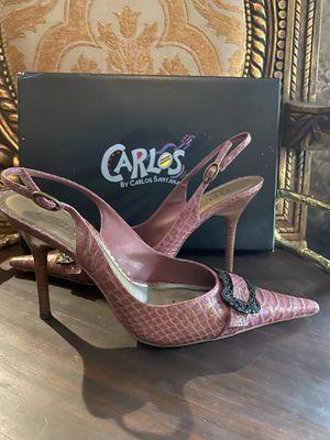 CARLOS SANTANA Teracotta Pink Croc Heels for Sale in Spring, TX