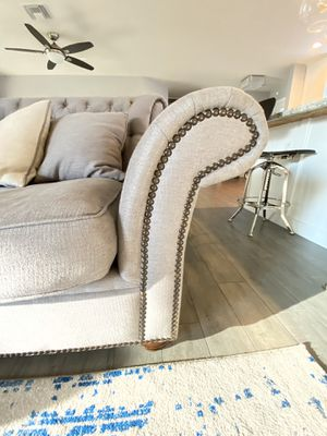Deep Seated Couch; Modern Gray /Nailhead for Sale in Tempe, AZ