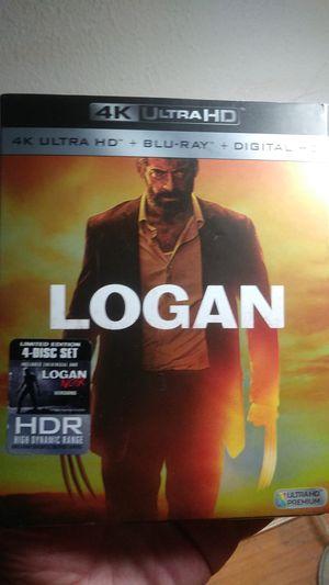 Logan Wolverine Blu-ray disc 4K Ultra HD for Sale in Phoenix, AZ