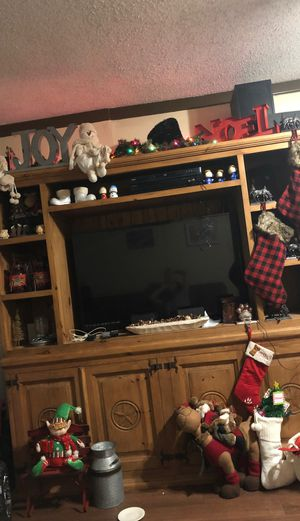 Rustic entertainment center for Sale in Baytown, TX