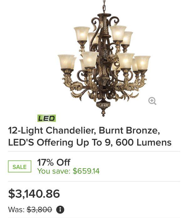 Elk Lighting led 12 bulbs chandelier
