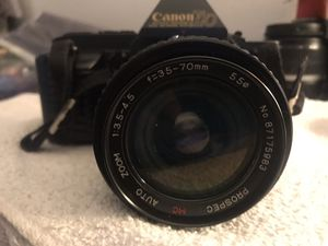 Canon T70 35mm slr film camera w 35-70mm and 80-200mm lenses $110 for Sale in Whittier, CA