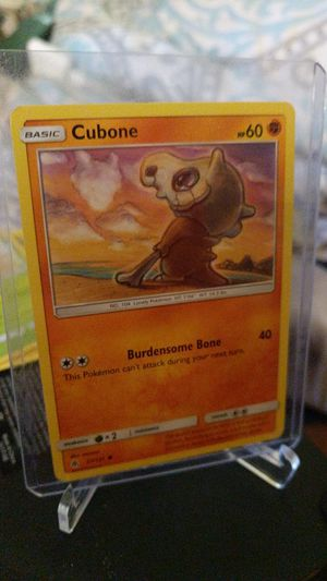 Cubone basic 57/131 HP 60 2018 weakness grass type for Sale in New Albany, IN
