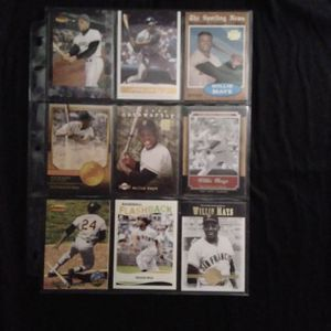 (9) Different WILLIE MAYS Baseball Card Lot San Francisco Giants for Sale in Redmond, WA