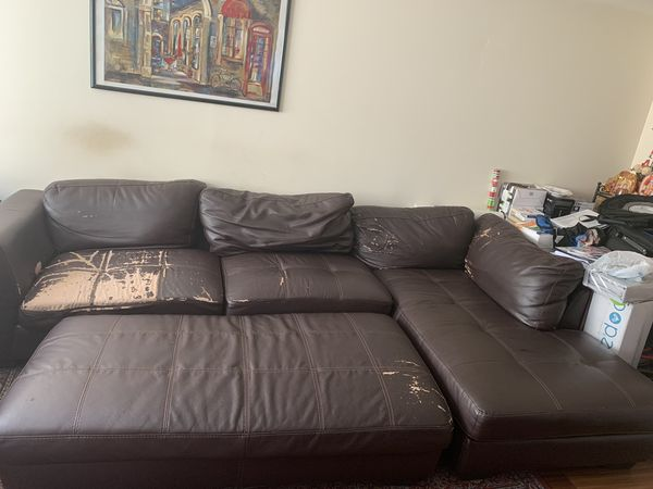 Leather sofa/Sectional and leather Automan
