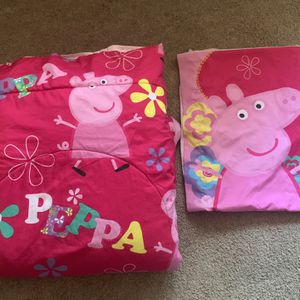 Peppa pig Comforter And Pillow Case for Sale in Santa Ana, CA