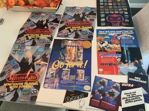 Nintendo NES poster inserts for Sale in Stoughton, MA