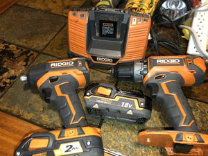 RIDGID 18V 1/2in (13mm) drill brushless 18V 1/4in (6.35mm) drill brushless 2 batteries and charger for Sale in Irving, TX