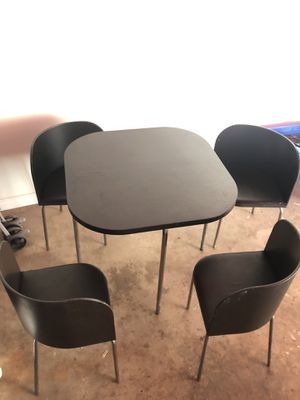 IKEA Fusion Black Dining Set $80 for Sale in Downey, CA