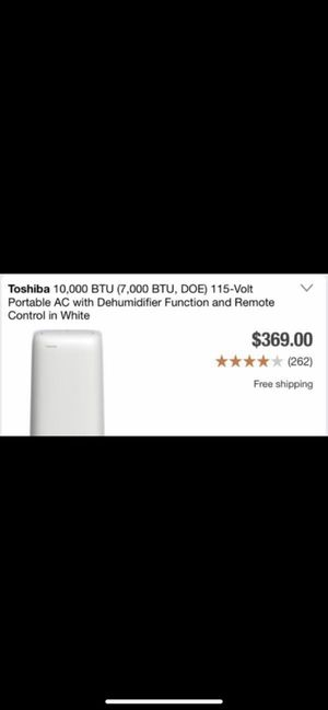 Toshiba 10,000 BTU air conditioner and dehumidifier for Sale in Phoenix, AZ