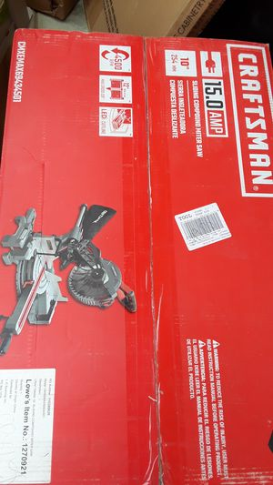CRAFTSMAN)(sliding compound milter saw)(10in) for Sale in Riverside, CA