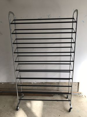 Shoe rack stand with 10 racks for Sale in Germantown, MD