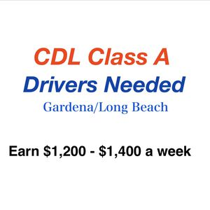 CDL Class A Drivers Needed for Sale in Corona, CA