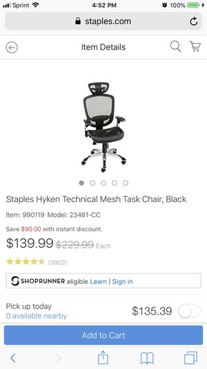 Brand New IN BOX Staples Hyken Office Chair for Sale in Queens, NY