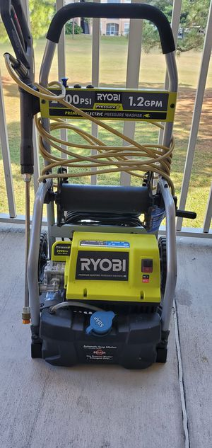 2,000 PSI 1.2 GPM Electric Pressure Washer Ryobi premium 100 percent working condition first owner for Sale in Davenport, FL