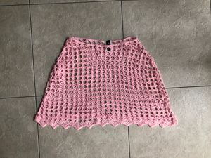 Pink crop top knit pink poncho, size small for Sale in Lorton, VA
