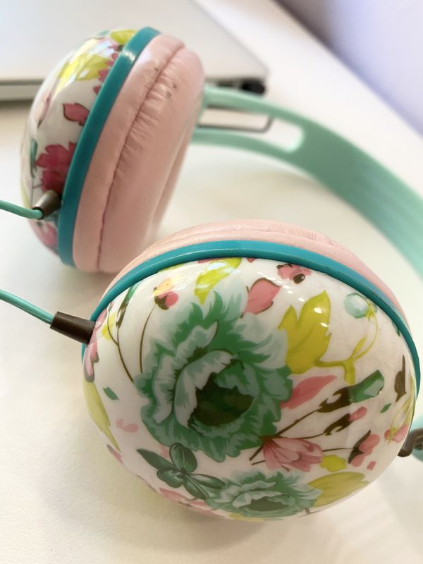 Floral headphones