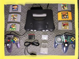 NINTENDO N64 COMPLETE W/MANY GAMES & UPGRADES for Sale in Columbia, MD