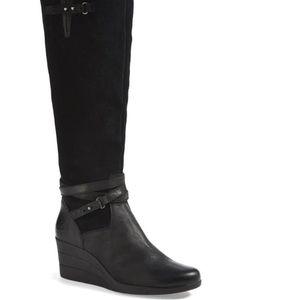 UGG Lesley Waterproof Suede Wedge Knee High Boots Sz 9 for Sale in Owings Mills, MD