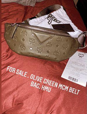 MCM Belt Bag . Limited edition Olive Green. for Sale in Tampa, FL