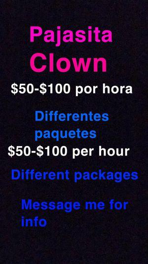 Pajasita clown for Sale in Galena Park, TX