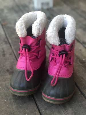 Sorel kids yoot pac snow boots for girls for Sale in East Patchogue, NY