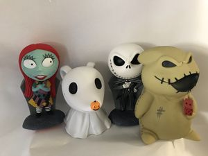 Nightmare Before Christmas banks 20 each 80 for all for Sale in Fullerton, CA