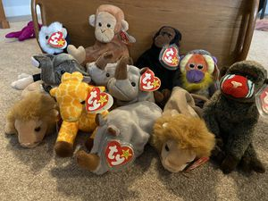 Various African animal beanie babies for Sale in Edgewood, WA