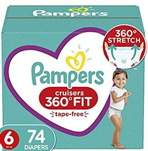 Kids pampers size 6. Diapers 74 for Sale in Everett, WA