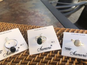 Sterling Silver 925 with Genuine Stone size 7 rings for Sale in San Rafael, CA