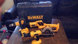 Dewalt 18v set w/ extra cordless drill and hard case for Sale in Maynardville, TN