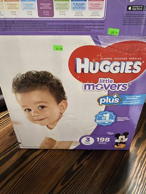 Huggies little movers size 3 for Sale in Robesonia, PA