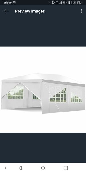 10×20 canopy tent for Sale in San Antonio, TX