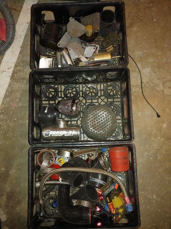 Random aftermarket parts (rx-7 block off plates, silicon connectors, filters, etc)