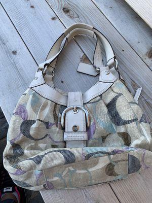 Coach Signature Optic Linen/Leather Hobo Bag/Purse for Sale in Washington Township, NJ