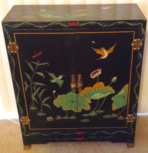 Oriental Printed Wooden Cabinet for Sale in Land O Lakes, FL