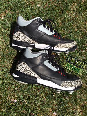 """Jordan """"Black Cement"""" 3 cleats size 9 for Sale in Wenatchee, WA"""