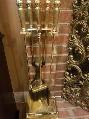 Golden Fireplace Tool Set for Sale in Boyds, MD