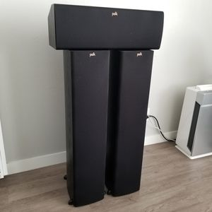 Polk Audio towers (Tsx330t)with matching Center speaker (Tsx250c) for Sale in Anaheim, CA