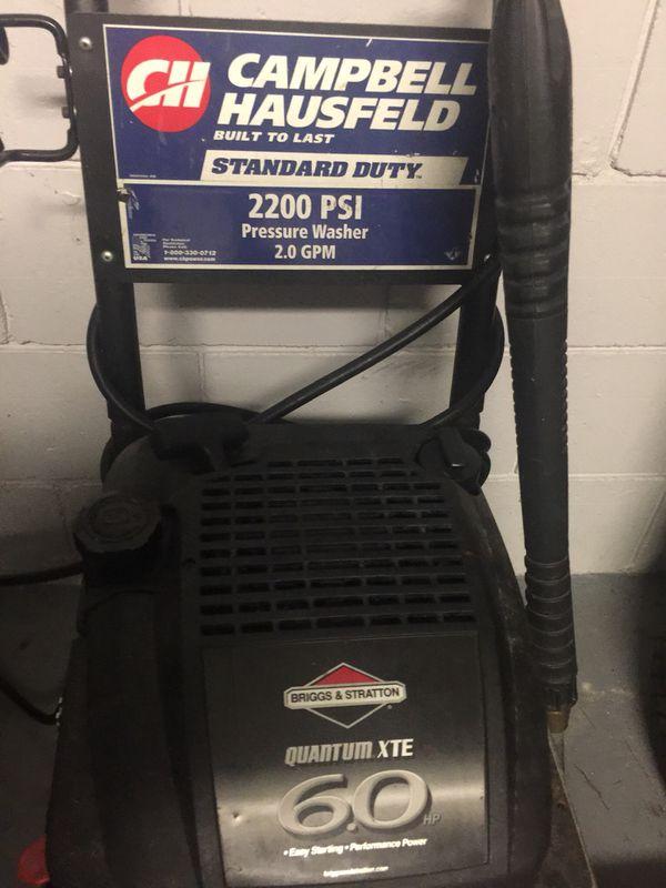 Campbell Hausfeld pressure washer 2200psi