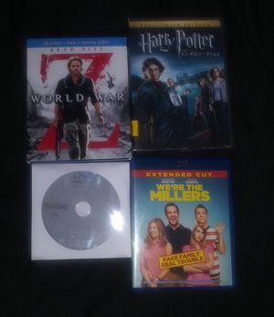World war z , Harrypotter , the Avengers and we're the millers for Sale in Phoenix, AZ