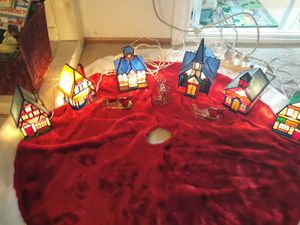 10 piece stained glass Christmas Village for Sale in Lakeside, CA