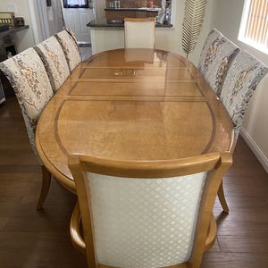 Dining Set With 8 Chairs And 2 End Tables for Sale in La Mirada, CA