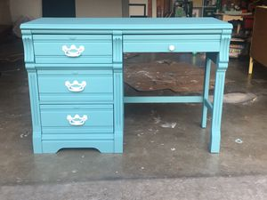 Hand Painted Blue Desk for Sale in Granite City, IL