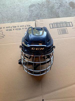Used Blue Adjustable CCM Hockey Helmet/mask for Sale in MN, US